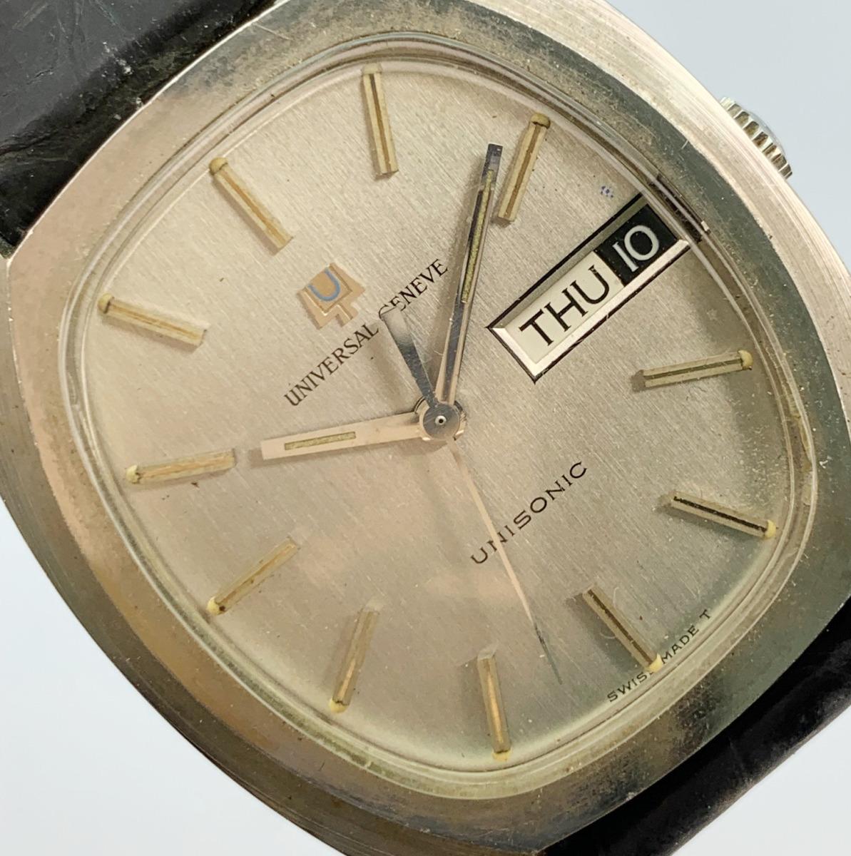 値下げ Universal Geneve ユニバーサルジュネーヴ 853106 Vintage Unisonic Men's Watch 音叉時計 メンズ U_画像9