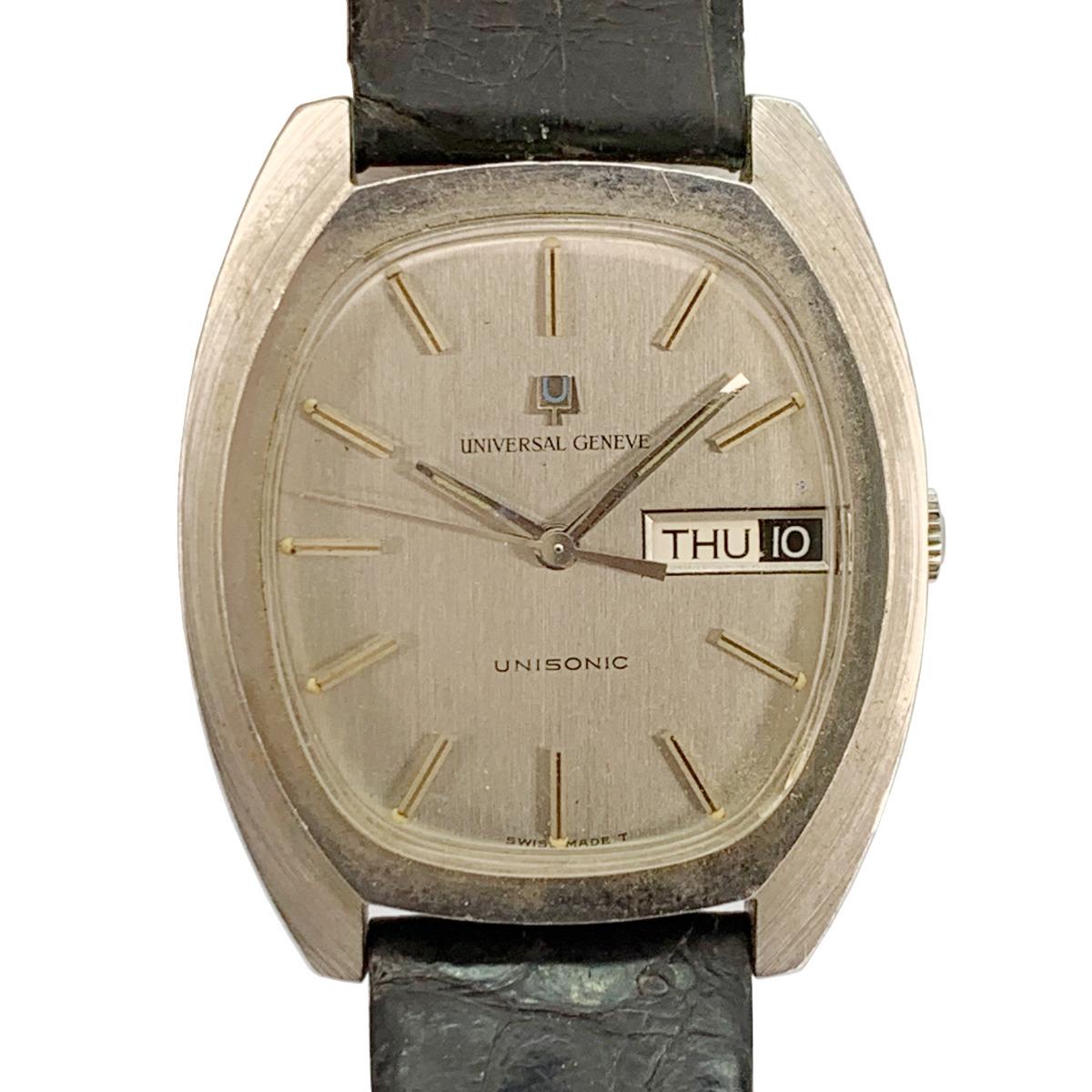 値下げ Universal Geneve ユニバーサルジュネーヴ 853106 Vintage Unisonic Men's Watch 音叉時計 メンズ U_画像1