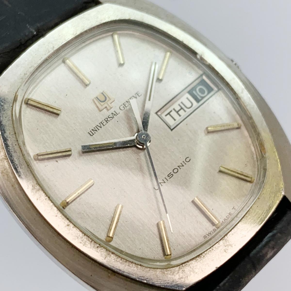 値下げ Universal Geneve ユニバーサルジュネーヴ 853106 Vintage Unisonic Men's Watch 音叉時計 メンズ U_画像10
