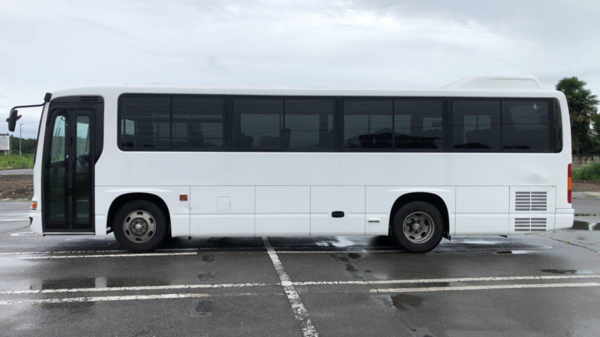 「H14 日野 メルファ 29人 スーパーデラックス 6MT エアサス リクライニングシート 換気扇付 観光 社員送迎に」の画像2