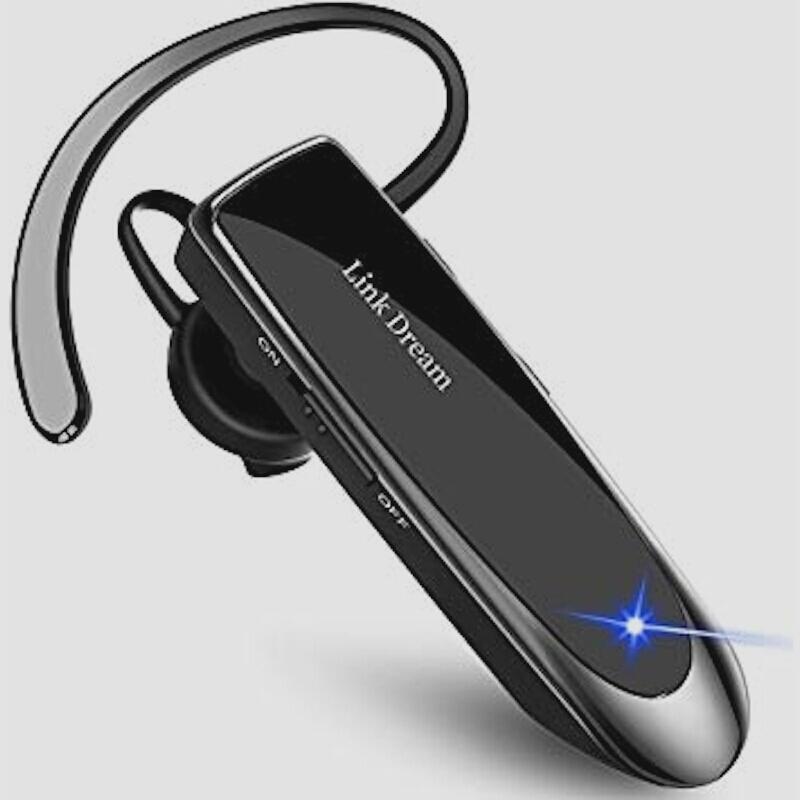 送料無料★Bluetooth ワイヤレス ヘッドセット V4.1 片耳 高音質 日本語音声 マイク内蔵 ハンズフリー通話 (黒)_画像1