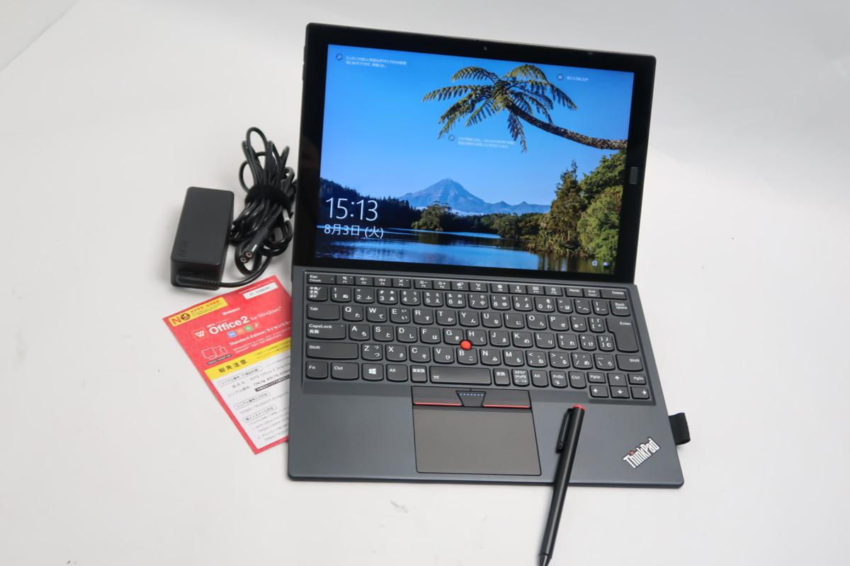 ■08-0201】 Office 付 Lenovo ThinkPad X1 Tablet 20JCS14U0N 第7世代 Core i5-7Y57-1.20GHz 8GB SSD 256GB 12型 Windows 10 タッチペン_画像1