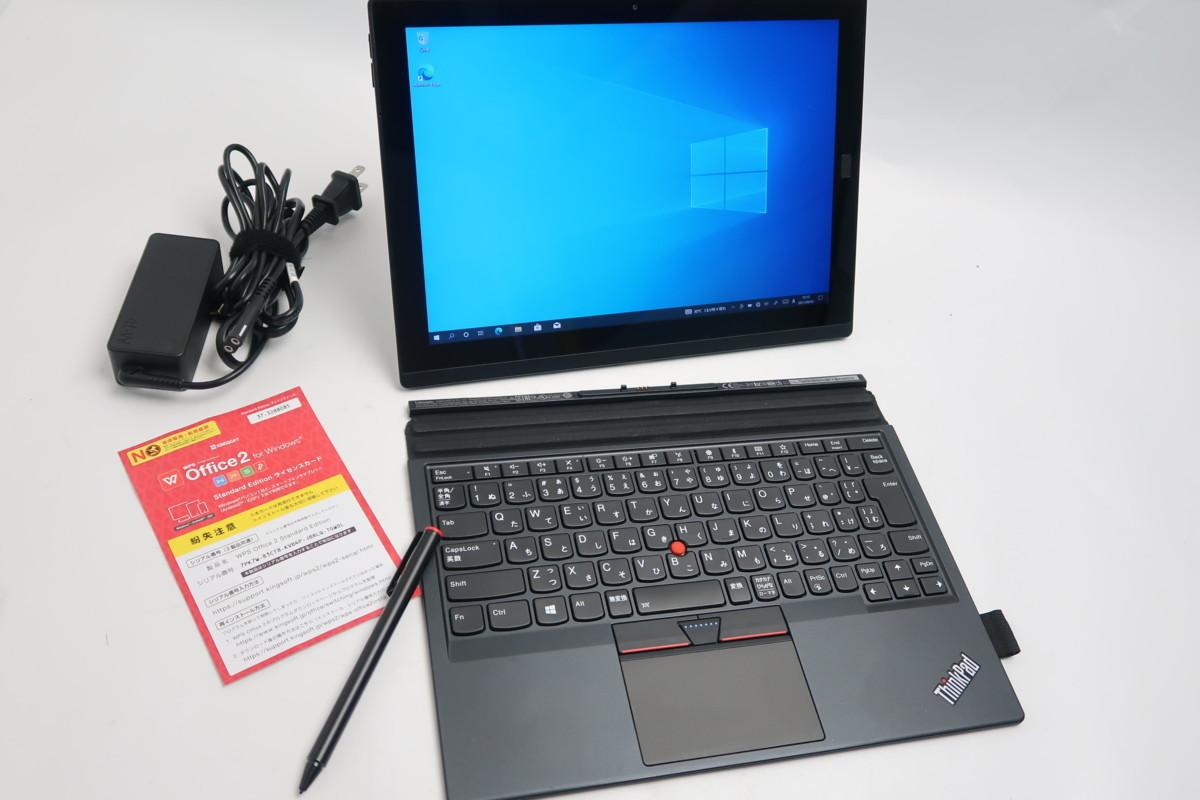 ■08-0201】 Office 付 Lenovo ThinkPad X1 Tablet 20JCS14U0N 第7世代 Core i5-7Y57-1.20GHz 8GB SSD 256GB 12型 Windows 10 タッチペン_画像9