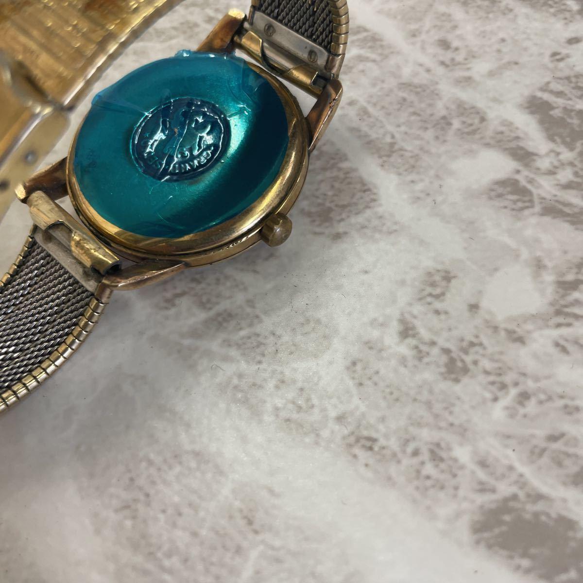 稼働品・ムーブ綺麗・SEIKO セイコー GS グランドセイコー ファースト 1st Ref.J14070 Cal.3180 メンズ 腕時計 獅子メダル 14K 金張り_画像6