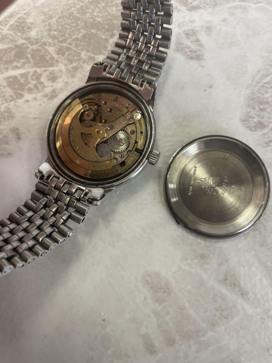 希少な原色文字盤・稼働品・OMEGA オメガ Seamaster シーマスター Ref.166.037 SP Cal.562 自動巻き デイト 純正ベルト メンズ 腕時計 _画像7