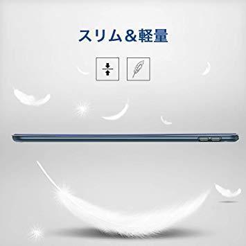 ネイビーブルー ESR iPad Mini 5 2019 ケース 軽量 薄型 PU レザー スマート カバー 耐衝撃 傷防止 ソ_画像7