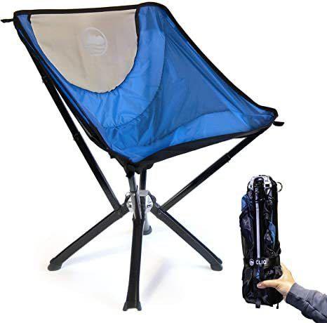 Cliq アウトドアチェア(ブルー)×2 + Cliq 2 椅子バッグ キャンプチェア セット販売