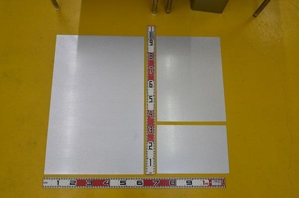鉄 ガルバリュウム鋼板 (0.35~1.2mm厚)の(914x600~300x200mm)定寸・枚数販売 F11_画像2