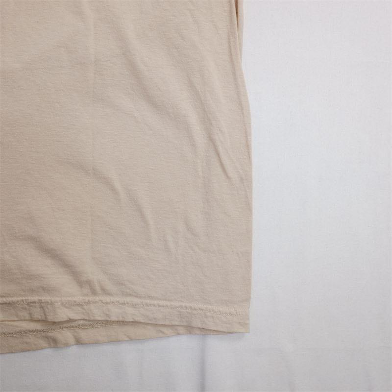 メンズUS-XXLサイズ Polo by Ralph Lauren ポロラルフローレン クルーネック半袖ワンポイントロゴTシャツ ベージュ系 ポニー刺繍 as-0192n_画像7