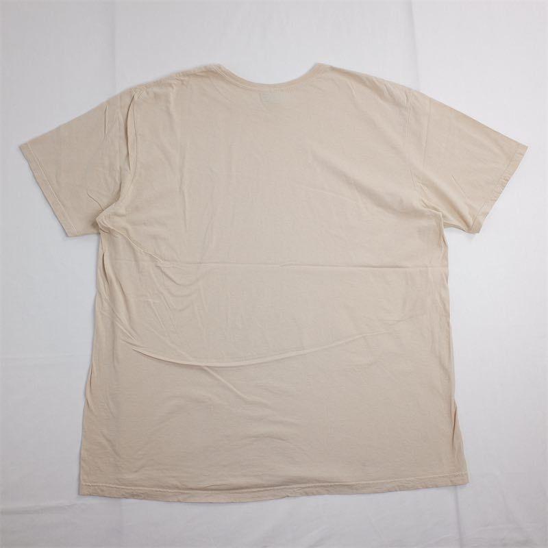 メンズUS-XXLサイズ Polo by Ralph Lauren ポロラルフローレン クルーネック半袖ワンポイントロゴTシャツ ベージュ系 ポニー刺繍 as-0192n_画像3