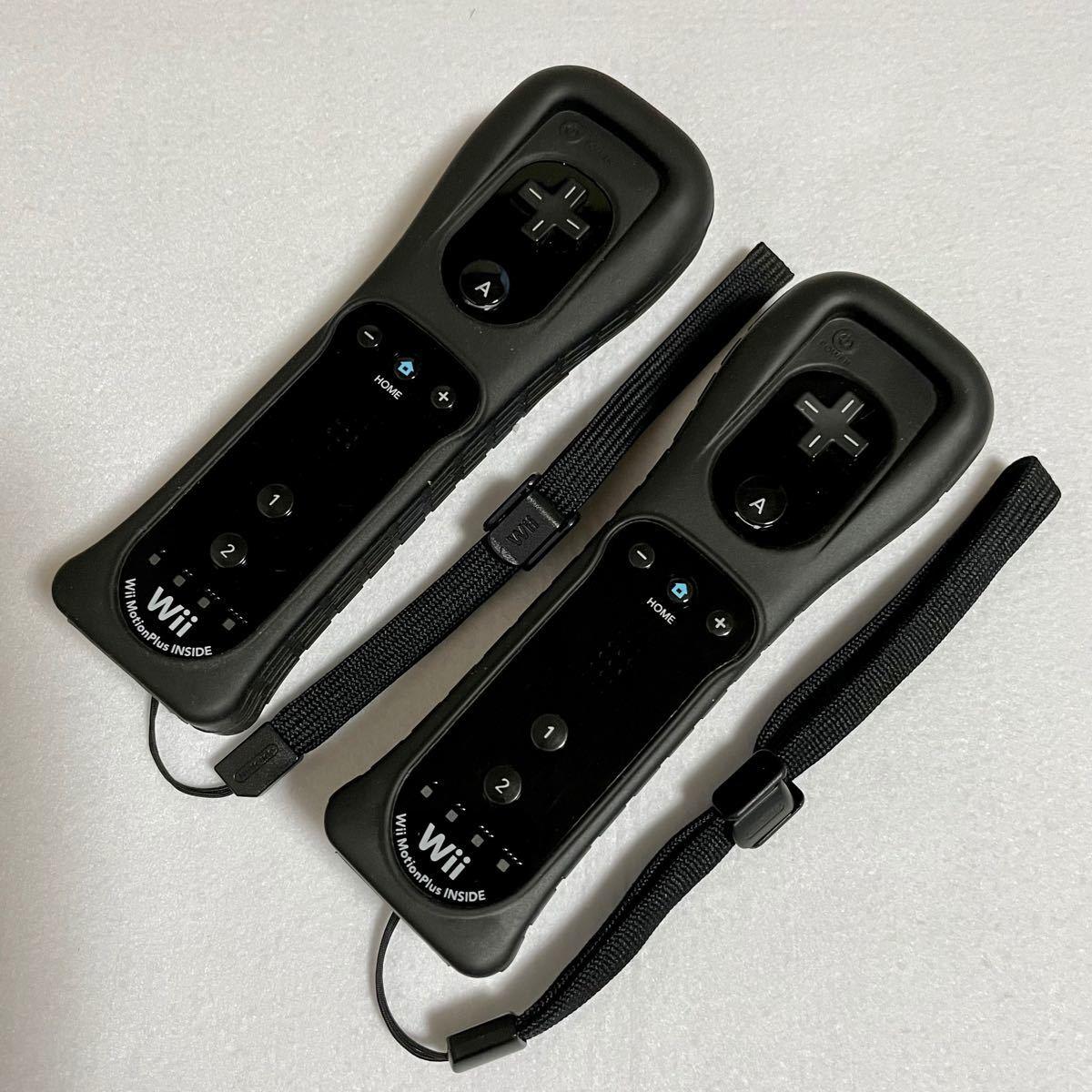 wii リモコン プラス モーションプラス コントローラー ブラック Wiiリモコン Wiiリモコンプラス セット