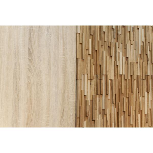 【個数限定】 天然木(チーク)オイル仕上げ 内装 ウッドパネル 10枚~ / 木材 パネル 壁板 ウッドタイル 貼れる木 diy ウォールステッカー_画像3