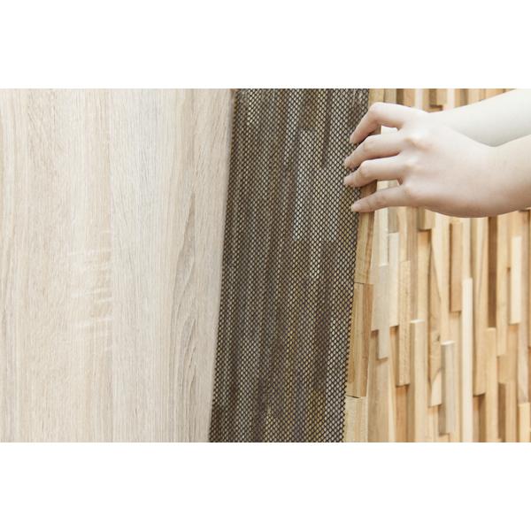【個数限定】 天然木(チーク)オイル仕上げ 内装 ウッドパネル 10枚~ / 木材 パネル 壁板 ウッドタイル 貼れる木 diy ウォールステッカー_画像4