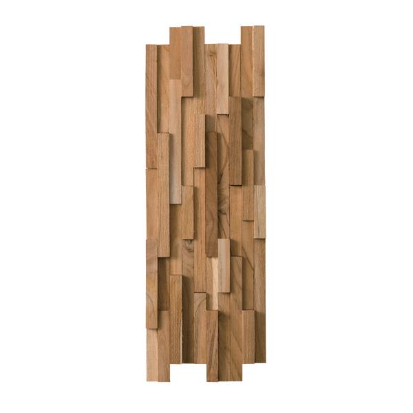 【個数限定】 天然木(チーク)オイル仕上げ 内装 ウッドパネル 10枚~ / 木材 パネル 壁板 ウッドタイル 貼れる木 diy ウォールステッカー_画像8