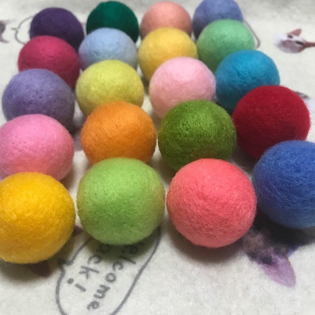 オーダー品 猫のおもちゃ☆ニャン玉☆鈴入り羊毛フェルトボール