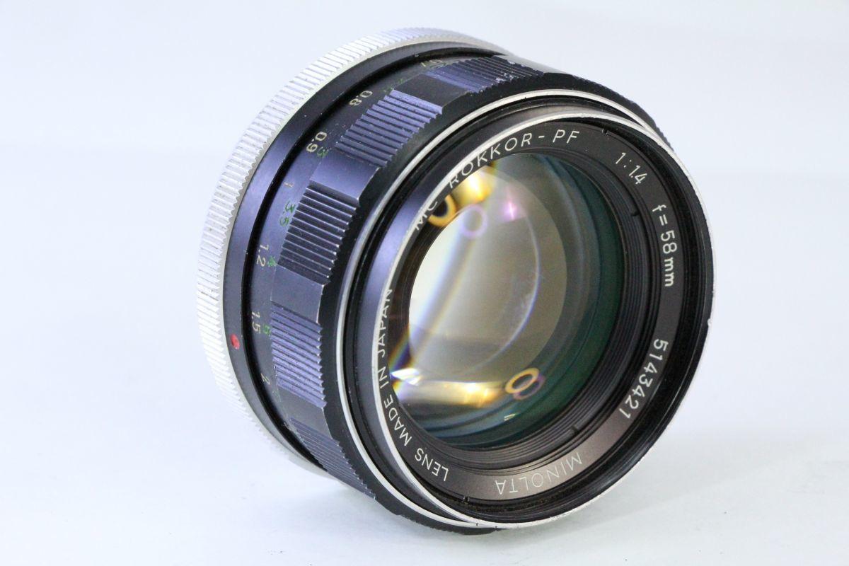 実用★ミノルタ MINOLTA MC ROKKOR-PF 58mm F1.4★スレキズ・光学綺麗★ZZZ 131_画像1