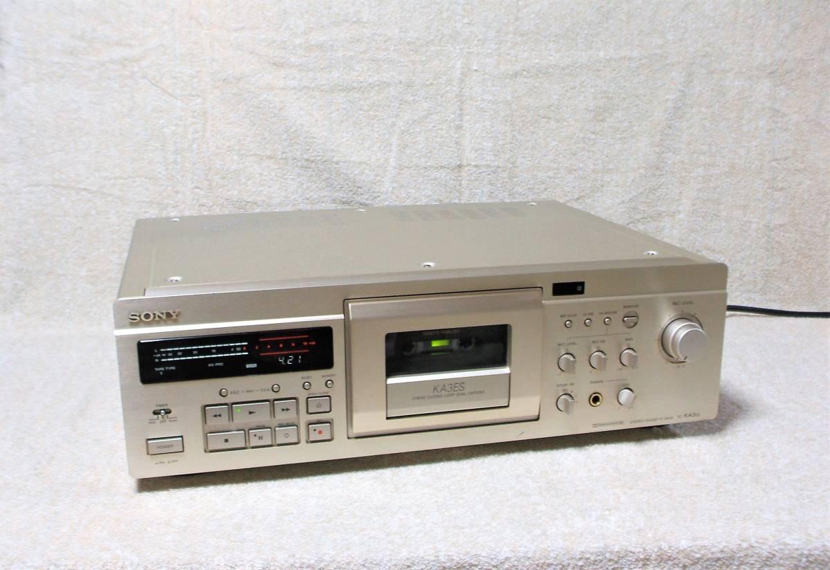 ■SONY  TC-KA3ES  カセットデッキ   専用リモコン、取説、動作保証