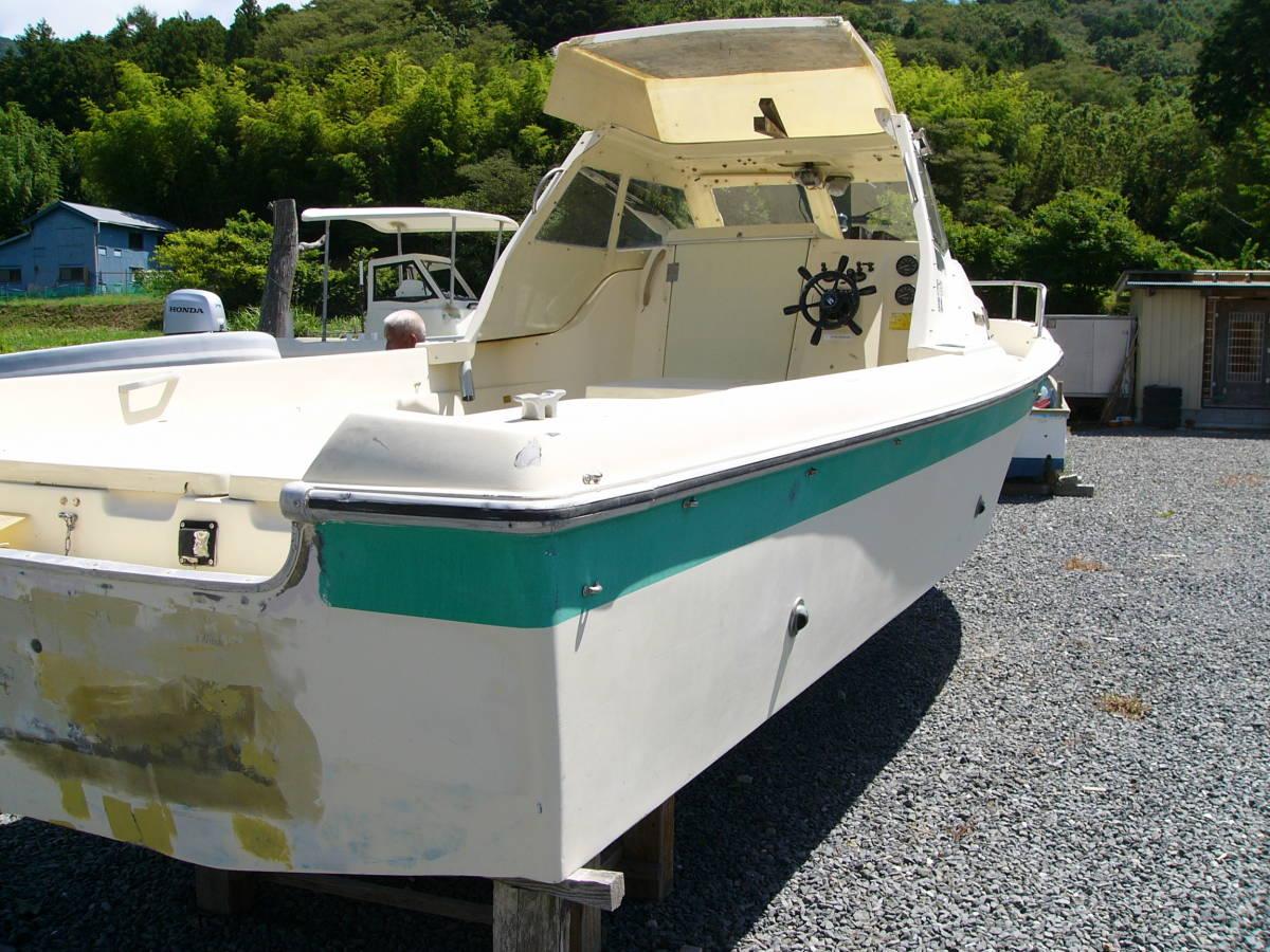 「23FT:NISSAN BOAT TYPE FS700:要望に応じ仕上げ渡し:船底・デッキ共良好  釣り レジャー:船舶検査書類完備: 」の画像1