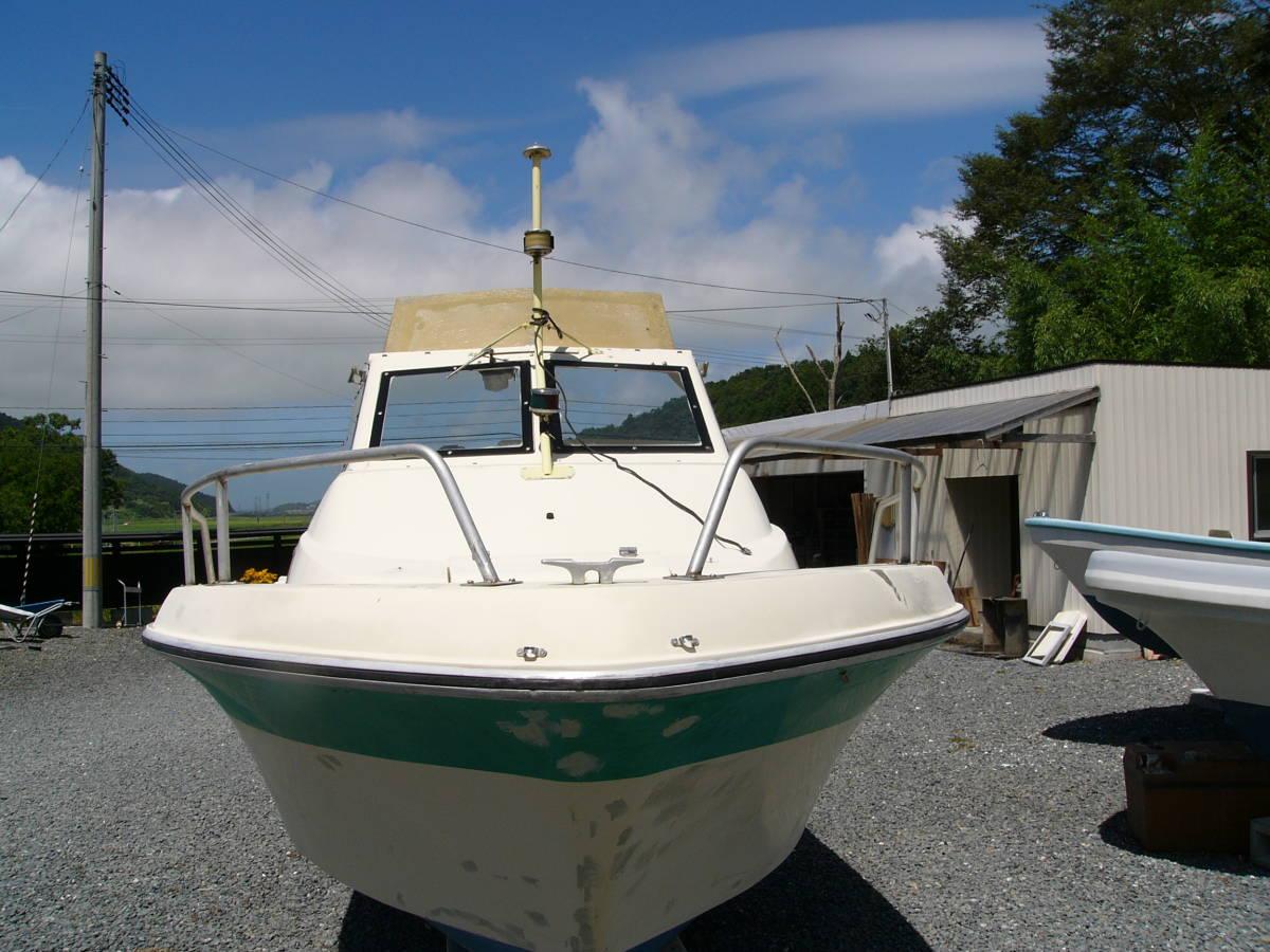 「23FT:NISSAN BOAT TYPE FS700:要望に応じ仕上げ渡し:船底・デッキ共良好  釣り レジャー:船舶検査書類完備: 」の画像3