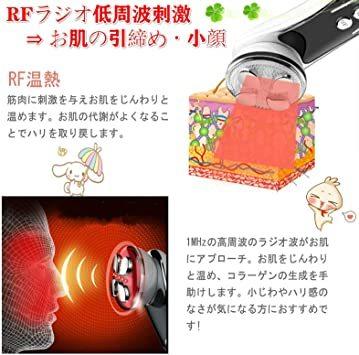 美顔器 LED美容器 LED光エステ EMS振動 ラジオ波 EMS微電流 多機能美顔器 たるみ リフトアップ 美肌 保湿 抗老化_画像4
