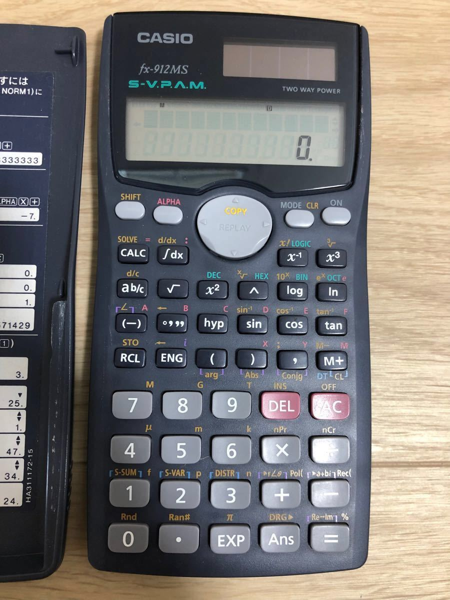 CASIO fx-912MS 10桁ソーラー関数電卓
