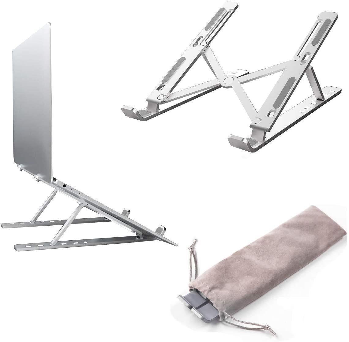ノートパソコンスタンド PCスタンド 6段階調節 折りたたみ式 タブレット ラップトップスタンド