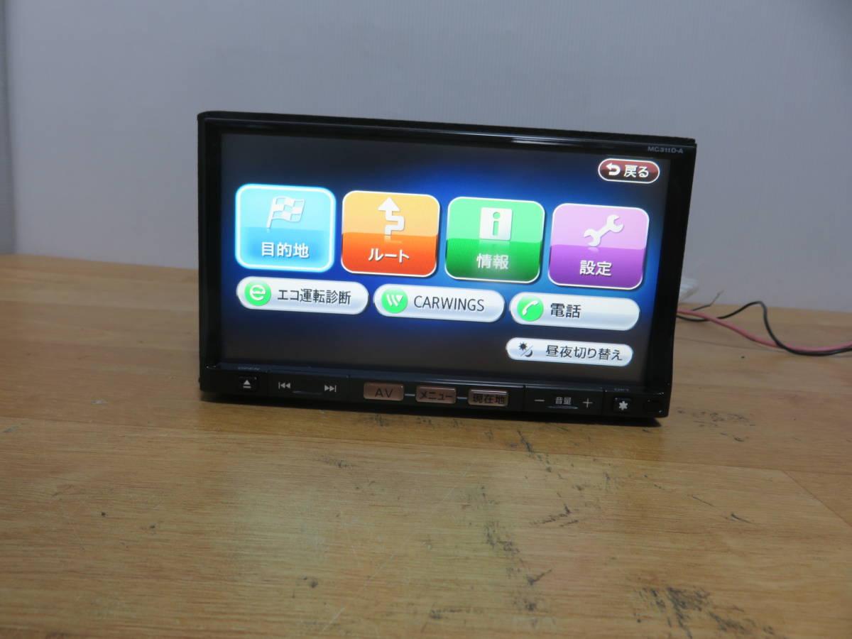 P586 クラリオンSSDナビ/MC311D-A/TVフルセグ地デジ 4×4 Bluetooth/USB AUX 本体のみ  CD DVD再生NG その他正常 _画像2