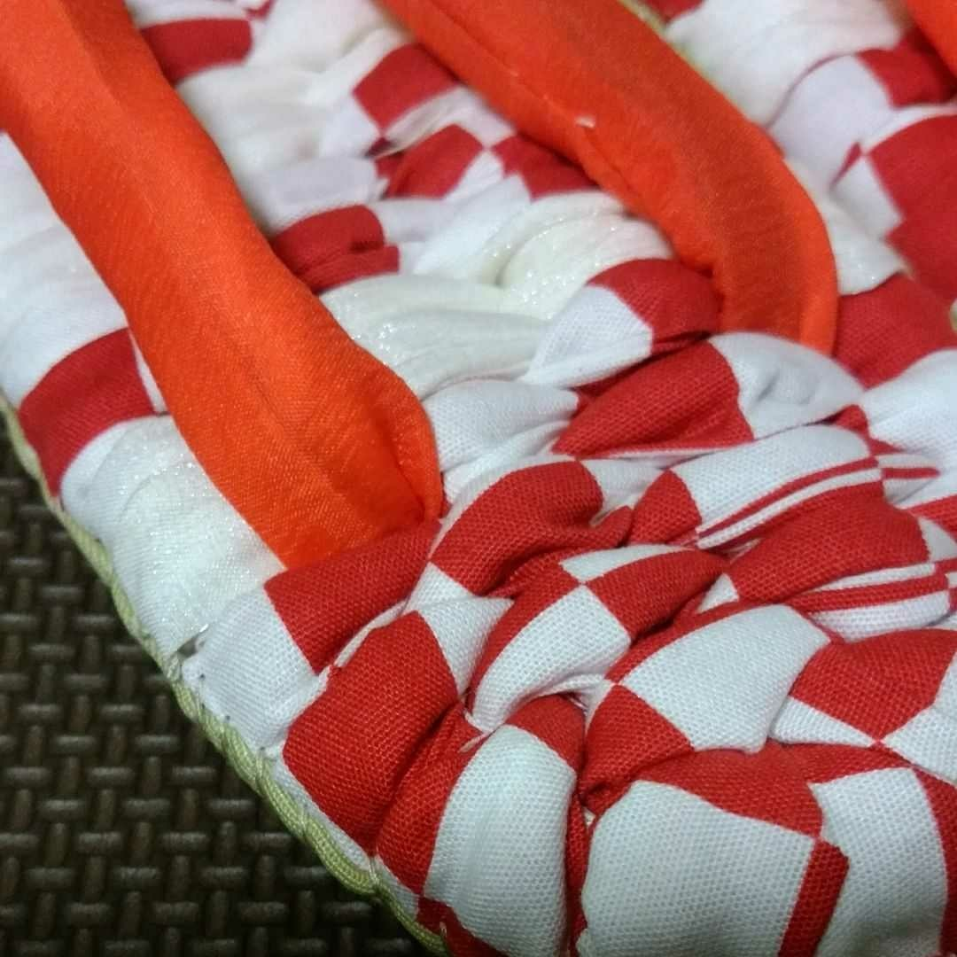 布ぞうり ハンドメイド 手作り 布草履 24.0  スリッパ 室内履き