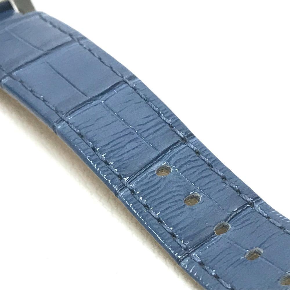LOUIS VUITTON ルイヴィトン Q132G タンブール ラブリーカップMM クロノグラフ デイト レディース腕時計 SS/アリゲーター ブラック×ブルー_画像9
