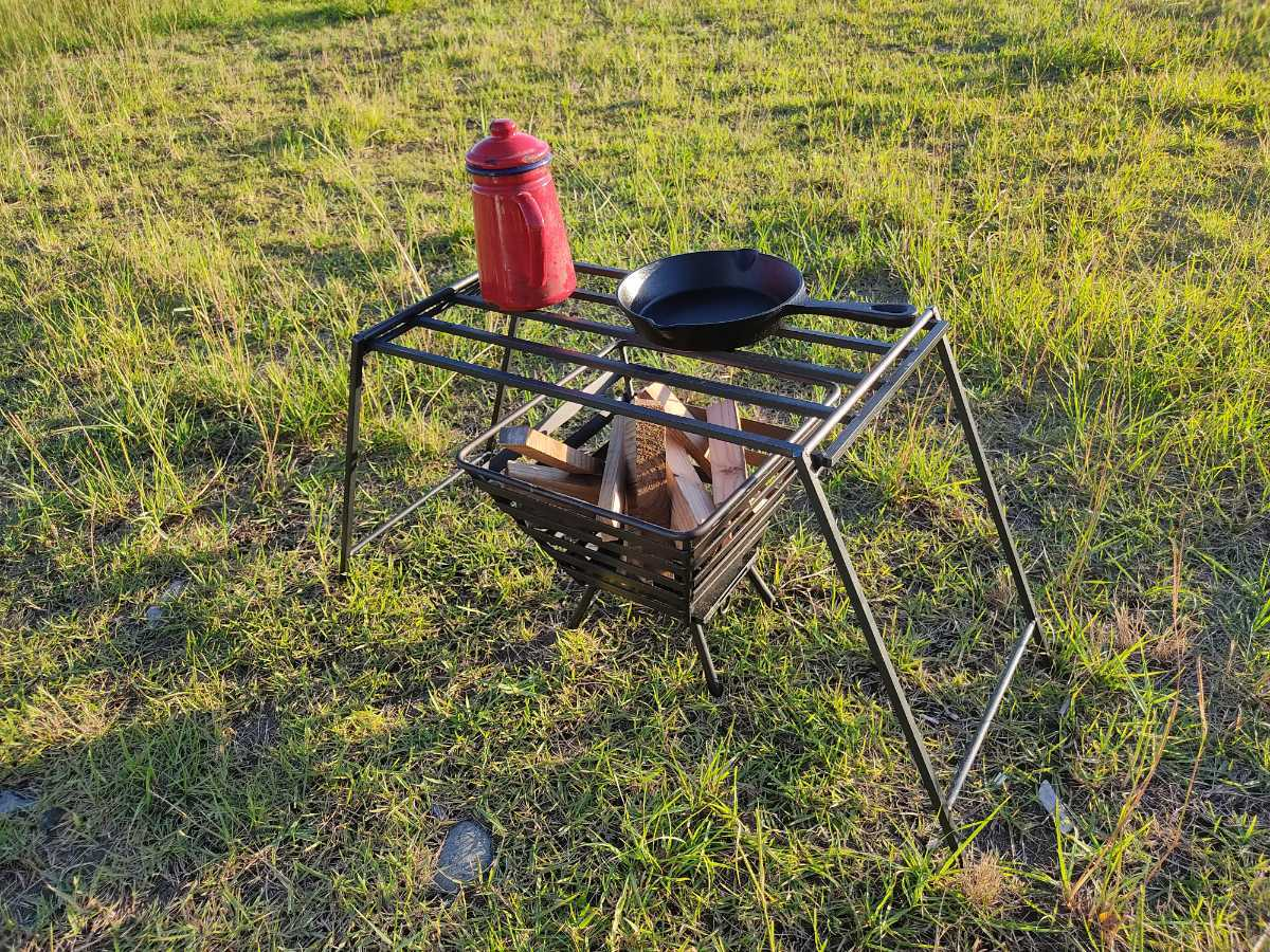 焚き火スタンド アウトドア キャンプ アイアン