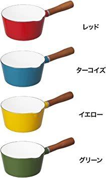 ターコイズ 16cm シービージャパン 片手鍋 ターコイズブルー IH対応 16cm ノルディカ ミルクパン ホーロ_画像7