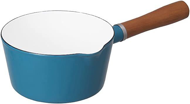 ターコイズ 16cm シービージャパン 片手鍋 ターコイズブルー IH対応 16cm ノルディカ ミルクパン ホーロ_画像1