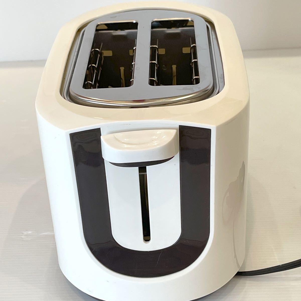テスコム (TESCOM) トースター ホワイト CT30-W【クリーニング済】 ポップアップトースター TESCOM
