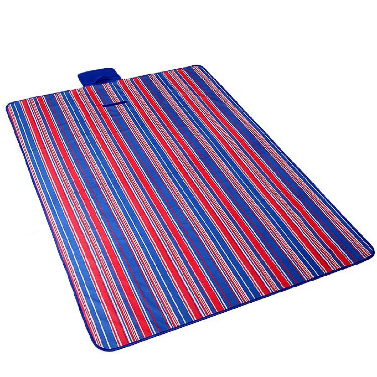 レジャーシート 厚手 200×200 大判 防水 おしゃれ 遠足運動会 キャンプ アウトドア 折り畳み 洗える ストライプ