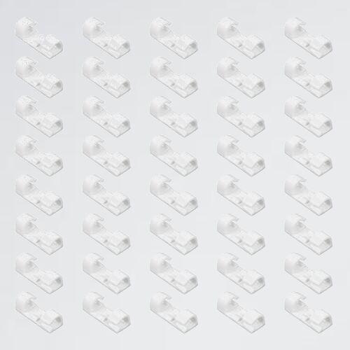 未使用 新品 ケ-ブルクリップ コ-ドクリップ、MAVEEK(マビ-カ) L-KR 結束固定ベ-ス (強力テ-プ付属)60個入 コ-ド収納 コ-ドフック_画像1