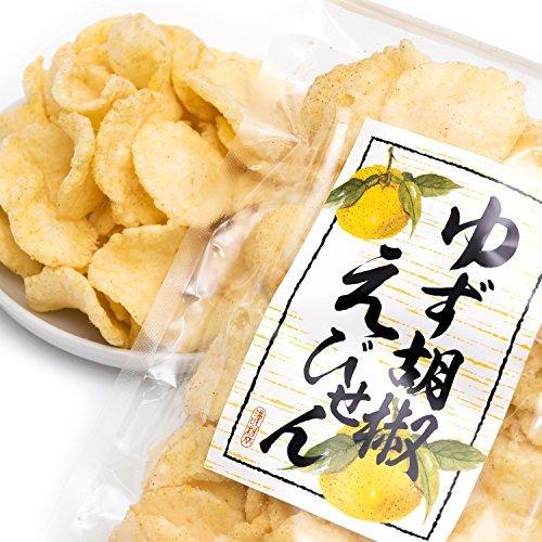 吉松 柚子胡椒 えびせん 業務用 お菓子 おつまみ えびせんべい 珍味 ゆず 海老 煎餅 (80g×4袋入)_画像9
