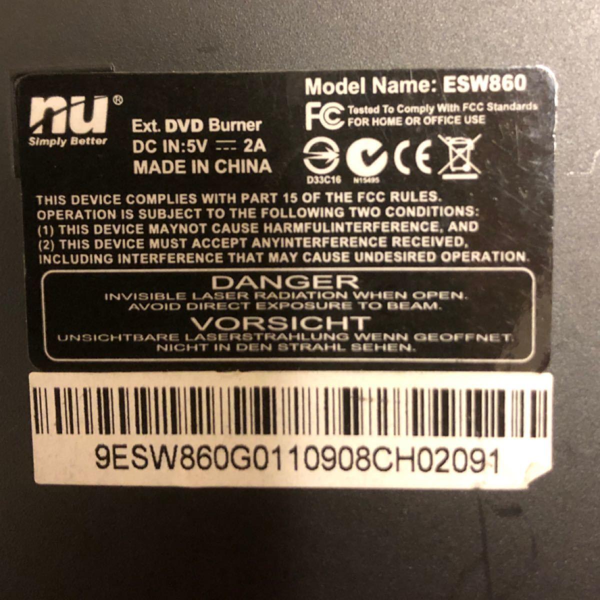 外付けDVDドライブ ESW860 美品
