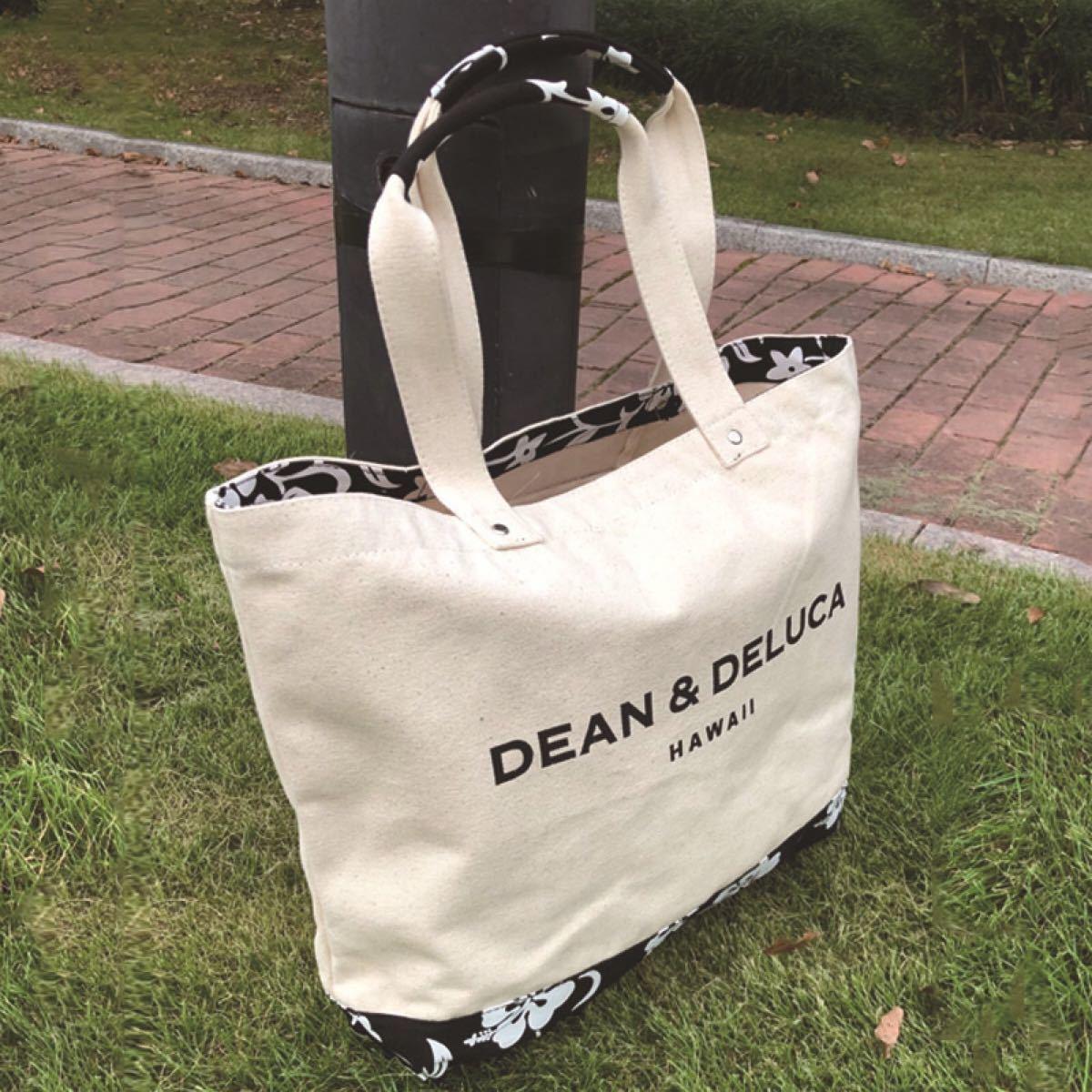 DEAN&DELUCA☆ハンドバッグ☆エコバッグ☆ハイビスカス☆花柄☆ハワイ☆トートバッグ