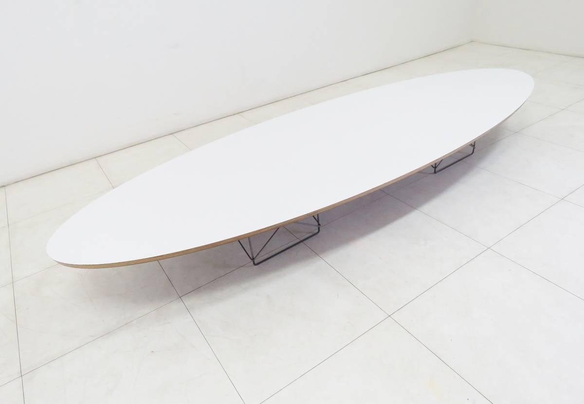 Herman Miller ハーマンミラー イームズ Elliptical エリプティカル テーブル 18万 天板 ホワイト 脚 クローム サーフボードテーブル_画像7