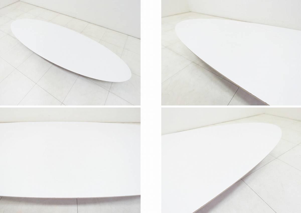 Herman Miller ハーマンミラー イームズ Elliptical エリプティカル テーブル 18万 天板 ホワイト 脚 クローム サーフボードテーブル_画像5
