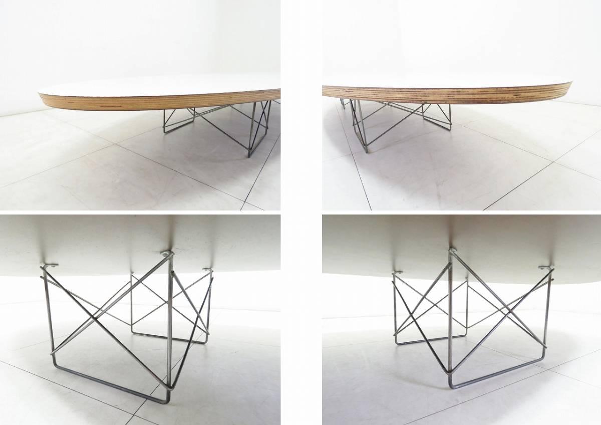 Herman Miller ハーマンミラー イームズ Elliptical エリプティカル テーブル 18万 天板 ホワイト 脚 クローム サーフボードテーブル_画像6