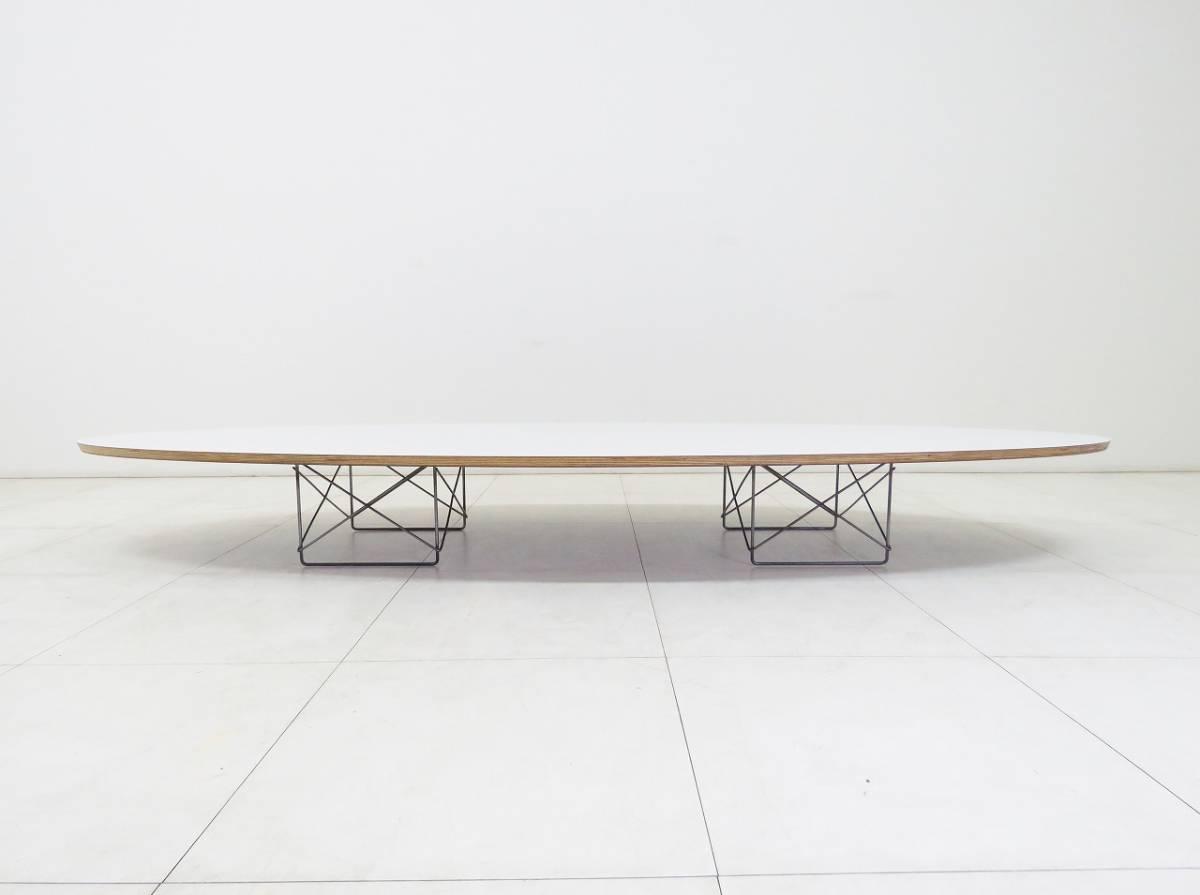 Herman Miller ハーマンミラー イームズ Elliptical エリプティカル テーブル 18万 天板 ホワイト 脚 クローム サーフボードテーブル_画像2