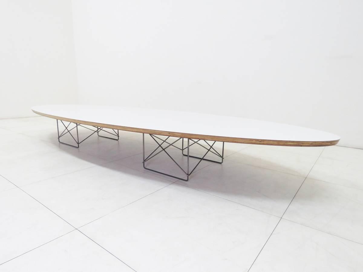 Herman Miller ハーマンミラー イームズ Elliptical エリプティカル テーブル 18万 天板 ホワイト 脚 クローム サーフボードテーブル_画像1