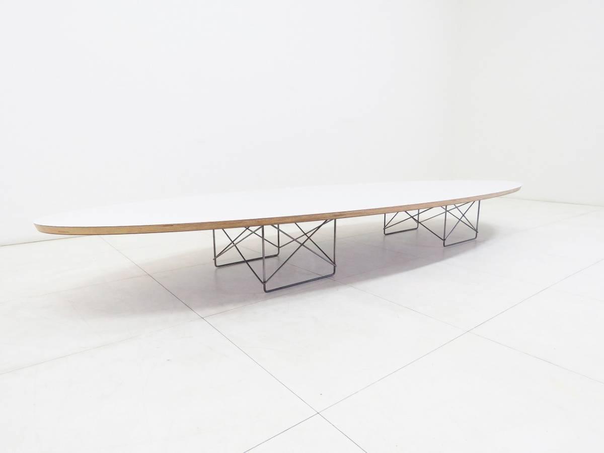 Herman Miller ハーマンミラー イームズ Elliptical エリプティカル テーブル 18万 天板 ホワイト 脚 クローム サーフボードテーブル_画像4