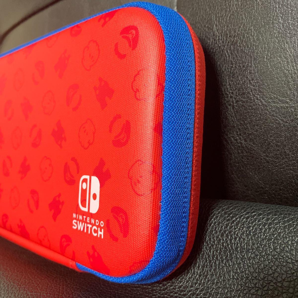 ニンテンドースイッチ マリオキャリングケース  Nintendo Switch 収納ケース マリオレッド×ブルーエディション