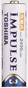 ★残1個★ 高容量タイプ 単3形充電池(min.2,400mAh) 充電式IMPULSE FhZ9g 4本 ニッケル水素電池 _画像3