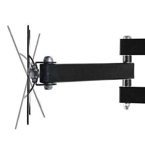 ブラック モニター テレビ壁掛け金具 10-30インチ LCDLED液晶テレビ対応 アーム式 回転式 左右移動式 角度調節 [並_画像2