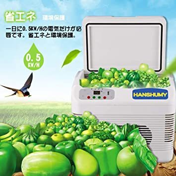 ホワイト HANSHUMY 12L冷蔵庫 -5℃~65℃ 冷温庫 保冷保温庫 温度調節 AC100V&DC12V・24V_画像5