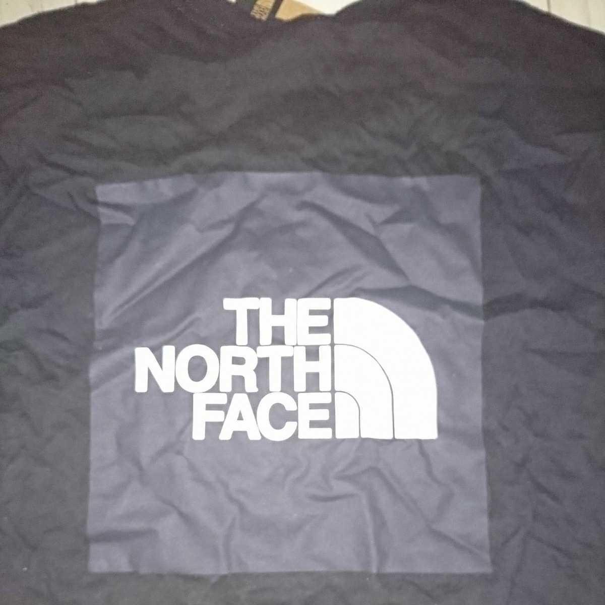 THE NORTH FACE ノースフェイス Tシャツ 半袖Tシャツ ロゴ デカロゴ Sサイズ アメリカ輸入品 黒 BLACK 新品未使用 タグ付き