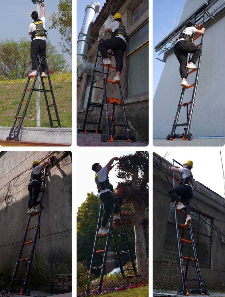  BF 8.1m 脚立兼はしご 高さ調整 高強度アルミ コンパクト 伸縮タイプ
